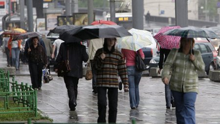 Половина месячной нормы осадков выпала за двое суток в Москве