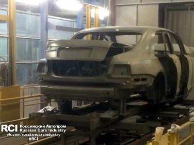 Седан из проекта «Кортеж» засветился на заводе ЛиАЗ