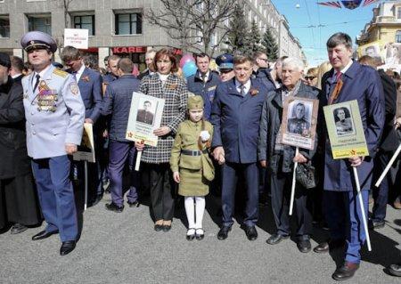 Курсанты Военно-космической академии имени А.Ф. Можайского приняли участие в масштабном шествии «Бессмертного полка»