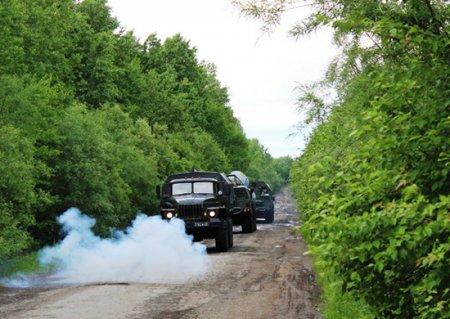 Расчеты ЗРС С-300 ПВО Восточного военного округа в Хабаровском крае провели тренировку по уничтожению наземных целей