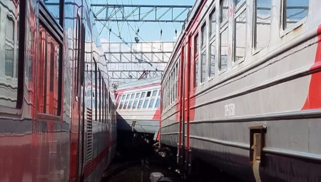 На Курском вокзале столкнулись два поезда, есть пострадавшие