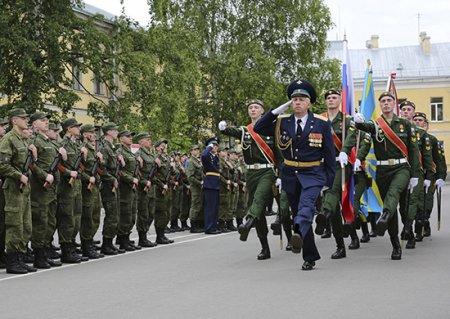 Студенты военной кафедры Российского государственного гидрометеорологического университета приведены к Военной присяге