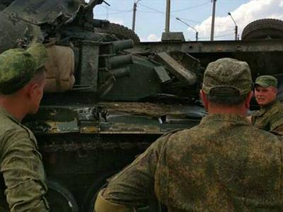 ВАЗ опрокинул танк в Дагестане
