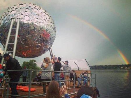 На фестивале «Арт-Овраг» представили первую в мире плавающую луну