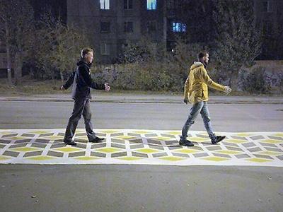 Необычный пешеходный переход рассердил ГИБДД Челябинска