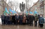 Цветы к памятнику советским воинам, погибшим в Афганистане, возложили в Люберцах