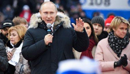 В «Лужниках» прошел митинг-концерт в поддержку Владимира Путина