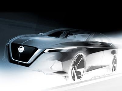 Nissan показал эскиз совершенно нового седана Teana