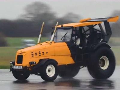 Видео: Самый быстрый в мире трактор побил рекорд Гиннесса
