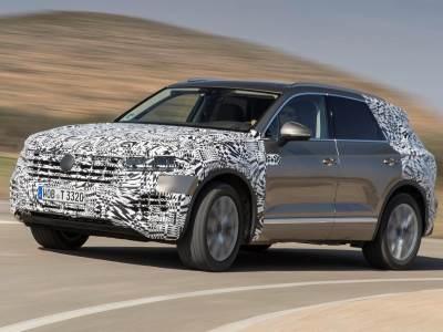 Volkswagen частично рассекретил интерьер нового Touareg