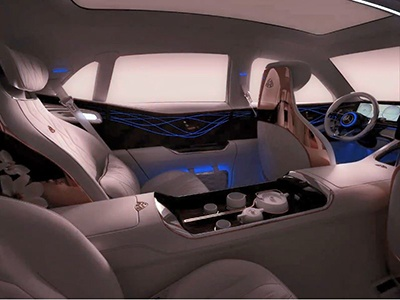 Mercedes показал салон нового кроссовера Maybach