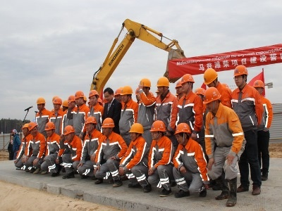 Под Минском строят новый моторный завод