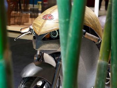 Представлен электромотоцикл из бамбука