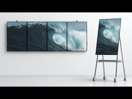 Microsoft представила интерактивную доску нового поколения Surface Hub 2