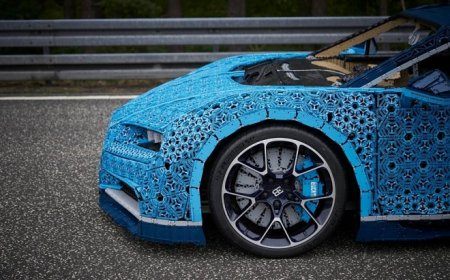 Полноразмерный Bugatti Chiron из миллиона деталей Lego умеет даже ездить
