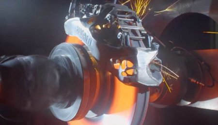 3D-напечатанные тормоза Bugatti способны остановить автомобиль на скорости 400 км/ч