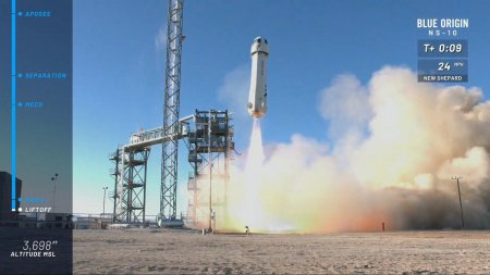 #видео | Первый в этом году успешный запуск ракеты New Shepard компании Blue Origin