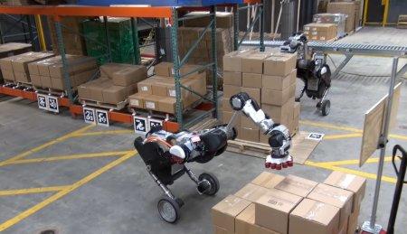 #видео | Boston Dynamics показала новую версию робота Handle с колесами и рукой-присоской