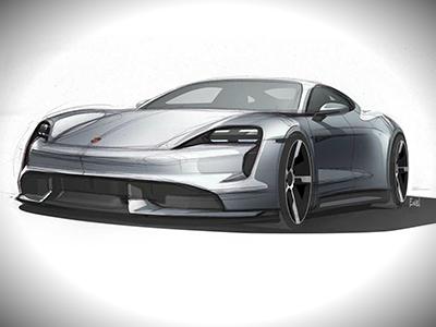 Porsche обновила дизайн будущего электрокара Taycan