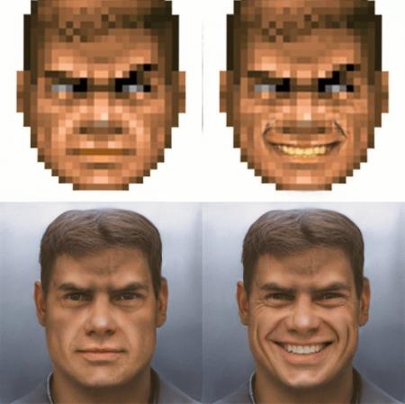 Нейросеть перерисовала героя из Doom в фотореалистичный портрет