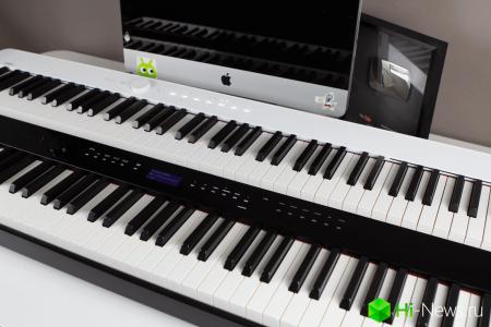 Поиграли на самом компактном и технологичном пианино. Есть даже Bluetooth