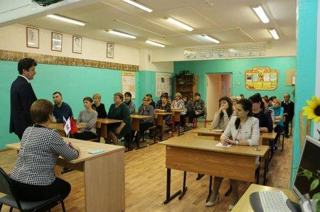 Глава городского округа О.В. Павлихин провел рабочую встречу с педагогическим коллективом Шеметовской СОШ