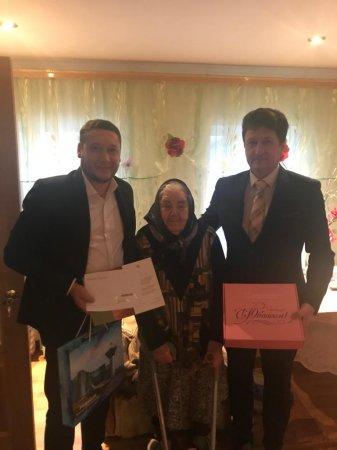 Глава городского округа поздравил жительницу р.п. Серебряные Пруды с 90-летием
