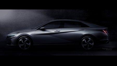 Hyundai показала первые фото нового седана Elantra
