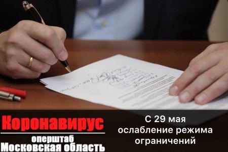 С 29 мая ослабляющий режим ограничений