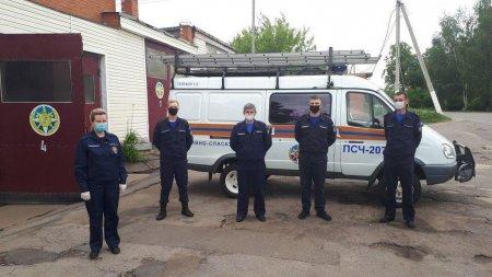 Спасатели ПСЧ-207 Серебряно-Прудского ПСГ оказали помощь сопредельному гарнизону Рязанской области 11 июня при ликвидации последствий ДТП