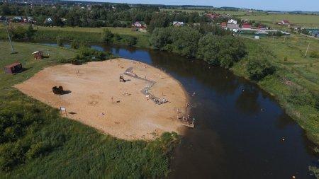 Пляж г.о. Серебряные Пруды, расположенный на территории парка культуры и отдыха «Серебряный», попал в топ-20 пляжей Подмосковья 2020 года