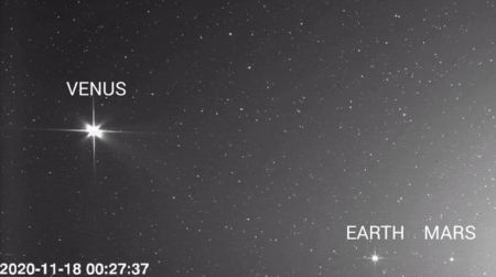 Зонд Solar Orbiter сделал потрясающие фотографии Венеры, Земли и Марса