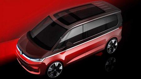 Volkswagen раскрыл внешность и архитектуру нового Multivan T7